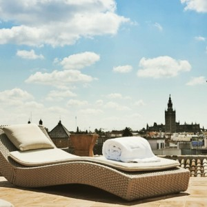 Enjoy the view at Hotel Palacio de Villapanes in #Seville #Spain #travelinspiration #travel #luxurytravel #luxuryhotel #luxury #photoftheday #picoftheday www.slh.com/hotels/palacio-de-Villapanes/