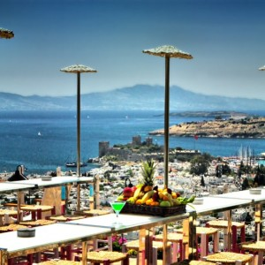 Enjoy the view at The Marmara Bodrum in #Bodrum #Turkey #view #sea #hotelview #photooftheday #picoftheday #travelinspiration #travel #luxurytravel #vacation www.slh.com/hotels/the-marmara-bodrum-hotel/