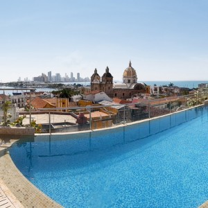 Enjoy views of the old town and the Caribbean Sea from the rooftop pool at Movich Hotel Cartagena de Indias in #Colombia #travelinspiration #rooftoppool #pool #rooftop #luxuryhotel #hotel #travel #luxurytravel #nofilter #photooftheday #picoftheday